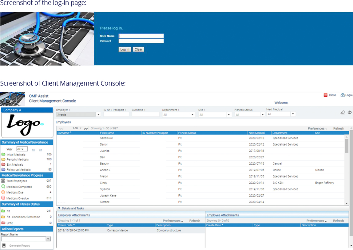 OMP Assist System Client Console